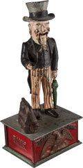 Antiques:Toys, Mechanical Bank: Uncle Sam with Original Box (No Lid)....