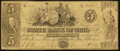 Obsoletes By State:Ohio, Mount Vernon, OH - The State Bank of Ohio, Knox County BranchCounterfeit $5 Jan. 1, 1849 Wolka 1754-21. ...