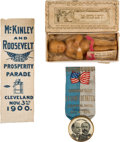 Political:3D & Other Display (pre-1896), William McKinley: Three Great Campaign Items.... (Total: 2 Items)