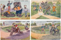 Political:Small Paper (1896-present), Four Scarce 1908 Election Campaign Postcards...