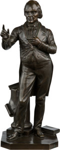 Political:3D & Other Display (pre-1896), Daniel Webster: Standing Bronze Statue by Boyer....