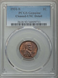Lincoln Cents, 1931-S 1C -- Cleaning -- PCGS Genuine. UNC Details. NGC Census: (2/413). PCGS Population: (2/460). CDN: $130 Whsle. Bid for...