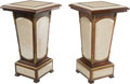 Furniture , A Pair of Mahogany, Marble, and Gilt Bronze Pedestals. 30-1/2 h x 17 w x 17 d inches (77.5 x 43.2 x 43.2 cm). ... (Total: 2 Items)