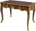 Furniture : Continental, A Louis XV-Style Mahogany, Fruitwood, and Gilt Bronze Writing Desk. 30-1/4 h x 44 w x 25 d inches (76.8 x 111.8 x 63.5 cm)...