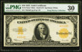 Large Size:Gold Certificates, Fr. 1173am* $10 1922 Mule Gold Certificate PMG Very Fine 30.. ...