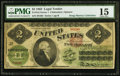 Large Size:Legal Tender Notes, Fr. 41d $2 1862 Legal Tender PMG Choice Fine 15.. ...