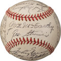 Baseball Collectibles:Balls, 1944 New York Yankees Team Signed Baseball....
