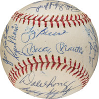 1960 New York Yankees Team Signed Baseball