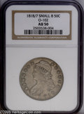 Bust Half Dollars: , 1818/7 50C Small 8 AU50 NGC. O-102. PCGS Population: (10/39). NGCCensus: (16/111). Numismedia Wsl. Price: $525....