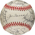 Baseball Collectibles:Balls, 1999 New York Yankees Team Signed Baseball from Clay Bellinger....