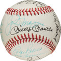 Baseball Collectibles:Balls, 1970 Yankee Stadium Old Timer's Day Multi-Signed Baseball withDiMaggio, Mantle & Maris....