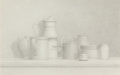 Fine Art - Work on Paper:Drawing, William H. Bailey (American, b. 1930). Still Life, 1977.Pencil on Arches paper. 15 x 22-1/2 inches (38.1 x 57.2 cm) (sh...