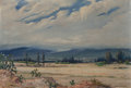 Fine Art - Painting, American, Ricardo Gomez Campuzano (Columbian, 1891-1981). Distant BlueHills. Oil on canvas. 20 x 29 inches (50.8 x 73.7 cm). Sign...