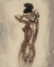 After Louis Icart Art Professor and Nude (two works) Offset lithographs in colors on paper 10-1/4 x 8-1/4 inche... (Tota...