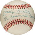 "Autographs:Baseballs, 1980's Mickey Mantle ""The Commerce Comet"" Single SignedBaseball...."