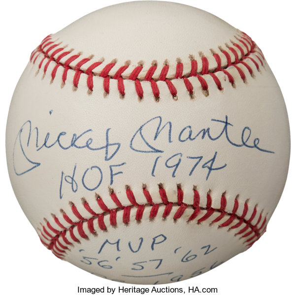 1733986f952 1980 s Mickey Mantle Single Signed