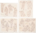 Animation Art:Concept Art, Josie and the Pussycats Character Design Drawings by Willie Ito, Group of 17 (Hanna-Barbera, 1970). ... (Total: 17 Items)