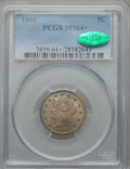 Liberty Nickels: , 1898 5C MS64+ PCGS. CAC. PCGS Population: (218/143 and 6/6+). NGC Census: (143/102 and 3/1+). CDN: $300 Whsle. Bid for prob...