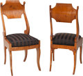 Furniture : Continental, Six Russian Biedermeier Yew Side Chairs. 36 h x 16-1/4 w x 19-1/8 dinches (91.4 x 41.3 x 48.6 cm). PROPERTY FROM THE RITT... (Total: 6Items)
