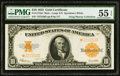 Large Size:Gold Certificates, Fr. 1173m* $10 1922 Mule Gold Certificate PMG About Uncirculated 55 EPQ.. ...