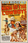 "Movie Posters:Western, King of the Cowboys (Republic, 1943). One Sheet (27"" X 41""). Western.. ..."