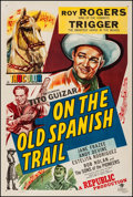 """Movie Posters:Western, On the Old Spanish Trail (Republic, 1947). One Sheet (27.25"""" X 40.75""""). Western.. ..."""