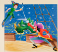 Animation Art:Production Drawing, Peter Pan Duel with Captain Hook Painting by Dick Wunderlich (Walt Disney, 1983). ...