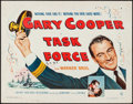 "Movie Posters:War, Task Force (Warner Brothers, 1949). Half Sheet (22"" X 28""). War....."