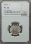 Liberty Nickels: , 1897 5C MS62 NGC. NGC Census: (80/332). PCGS Population: (97/525). Mintage 20,428,736. ...