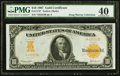 Large Size:Gold Certificates, Fr. 1172* $10 1907 Gold Certificate PMG Extremely Fine 40.. ...