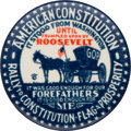 """Political:Pinback Buttons (1896-present), [Alf Landon]: A Rare and Distinctive Anti-FDR 1¼"""" Button from the 1936 Election...."""