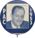 Political:Pinback Buttons (1896-present), Hubert H. Humphrey: Arguably the Best Humphrey Button in theHobby....