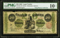Large Size:Legal Tender Notes, Fr. 124a $20 1862 Legal Tender PMG Very Good 10 Net.. ...