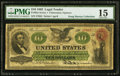 Large Size:Legal Tender Notes, Fr. 93a $10 1862 Legal Tender PMG Choice Fine 15.. ...