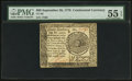 Colonial Notes:Continental Congress Issues, Continental Currency September 26, 1778 $60 Pen Cancelled PMG AboutUncirculated 55 EPQ.. ...