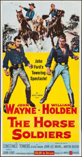 """Movie Posters:Western, The Horse Soldiers (United Artists, 1959). Three Sheet (41"""" X 81""""). Western.. ..."""