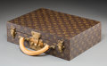Decorative Arts, French:Other , A Louis Vuitton Classic Monogram Leather Briefcase. 13 h x 13-5/8 wx 3-3/4 d inches (33.0 x 34.6 x 9.5 cm) (overall, includ...