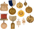 Miscellaneous:Ephemera, Education-Related Gold Medals. ... (Total: 11 Items)