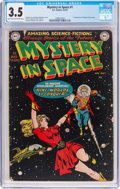 Golden Age (1938-1955):Science Fiction, Mystery in Space #1 (DC, 1951) CGC VG- 3.5 Light tan to off-whitepages....