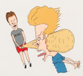 "Animation Art:Production Cel, Beavis and Butt-Head ""Frog Baseball"" Production Cel (MikeJudge, 1992). ..."