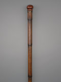 Decorative Arts, Continental:Other , An Unusual Convertible Biologist's or Alchemist's Walking Stick,late 19th century. 36-1/4 inches high (92.1 cm). PROPERTY...