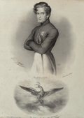 Fine Art - Work on Paper:Print, Michel Delaporte (French, 19th century). Napoleon II, FrançoisCharles Joseph Napoleon Bonaparte, King of Rome, Duke of Re...