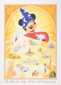 "Animation Art:Poster, ""We Make the Magic: 50 Years of Imagineering"" Limited EditionLithograph by John Hench #824/6000 (Walt Disney, 2002). ... (Total:2 Items)"