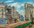 Fine Art - Painting, European:Modern  (1900 1949)  , Elisée Maclet (French, 1881-1962). Montmartre: Rue Norvins.Oil on canvas. 15-1/4 x 18-1/2 inches (3...