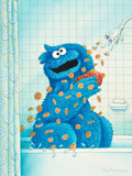 Animation Art:Production Drawing, Sesame Street Magazine #67 Cookie Monster Original Cover Art (The Parenting Group, 1977). ...