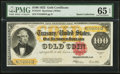 Large Size:Gold Certificates, Fr. 1215 $100 1922 Gold Certificate PMG Gem Uncirculated 65 EPQ.. ...