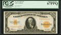 Large Size:Gold Certificates, Fr. 1173 $10 1922 Gold Certificate PCGS Superb Gem New 67PPQ.. ...