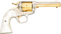 Handguns:Single Action Revolver, Engraved Colt Bisley Model Single Action Revolver....