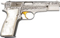 Handguns:Semiautomatic Pistol, Engraved FN Browning Classic One of Five Thousand Hi-PowerSemi-Automatic Pistol....