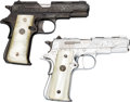Handguns:Semiautomatic Pistol, Lot of Two Engraved Spanish Llama Semi-Automatic Pistols....(Total: 2 Items)